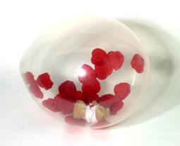 globo transparente relleno con confeti