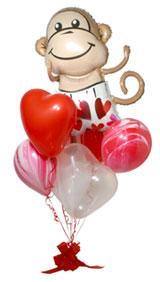 Ramillete globos corazones
