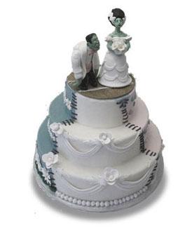 """pasteles de novios: """"el cadaver de la novia"""" y """"el extraño mundo de Jack"""" Frankensteinweddingcake-cakex"""