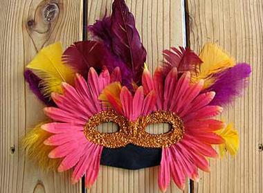 antifaz Carnaval con pétalos