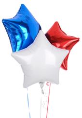 globos de látex con estampados de estrellas para una fiesta graduacion